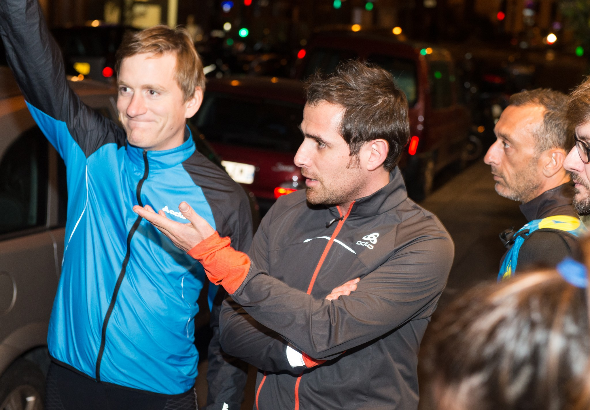Le directeur marketing Nicolas Caniez (au centre) et Jean Pierre Run Run (à droite).