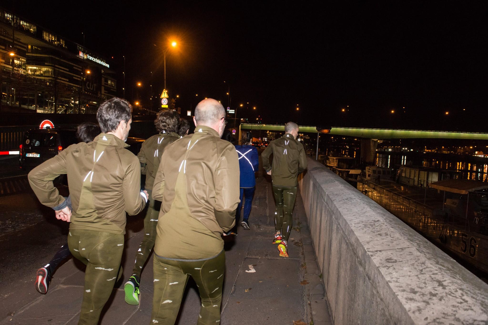 Les nouvelles vestes : couleurs « forêt » très trail running mais grosses bandes réfléchissantes pour courir en ville